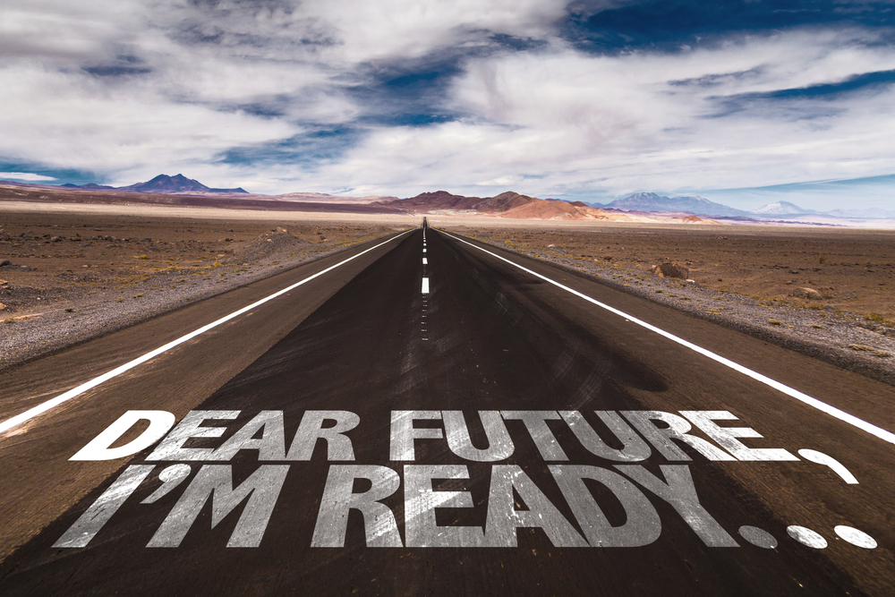 Dear Future, Im Ready... written on desert road