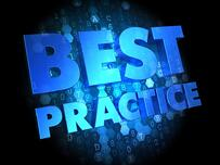 Best Practice - Text in Blue Color on Dark Digital Background.