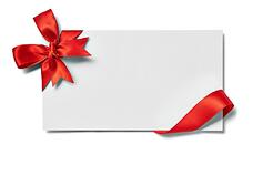 close up of a note card with ribbon bow on white background-1