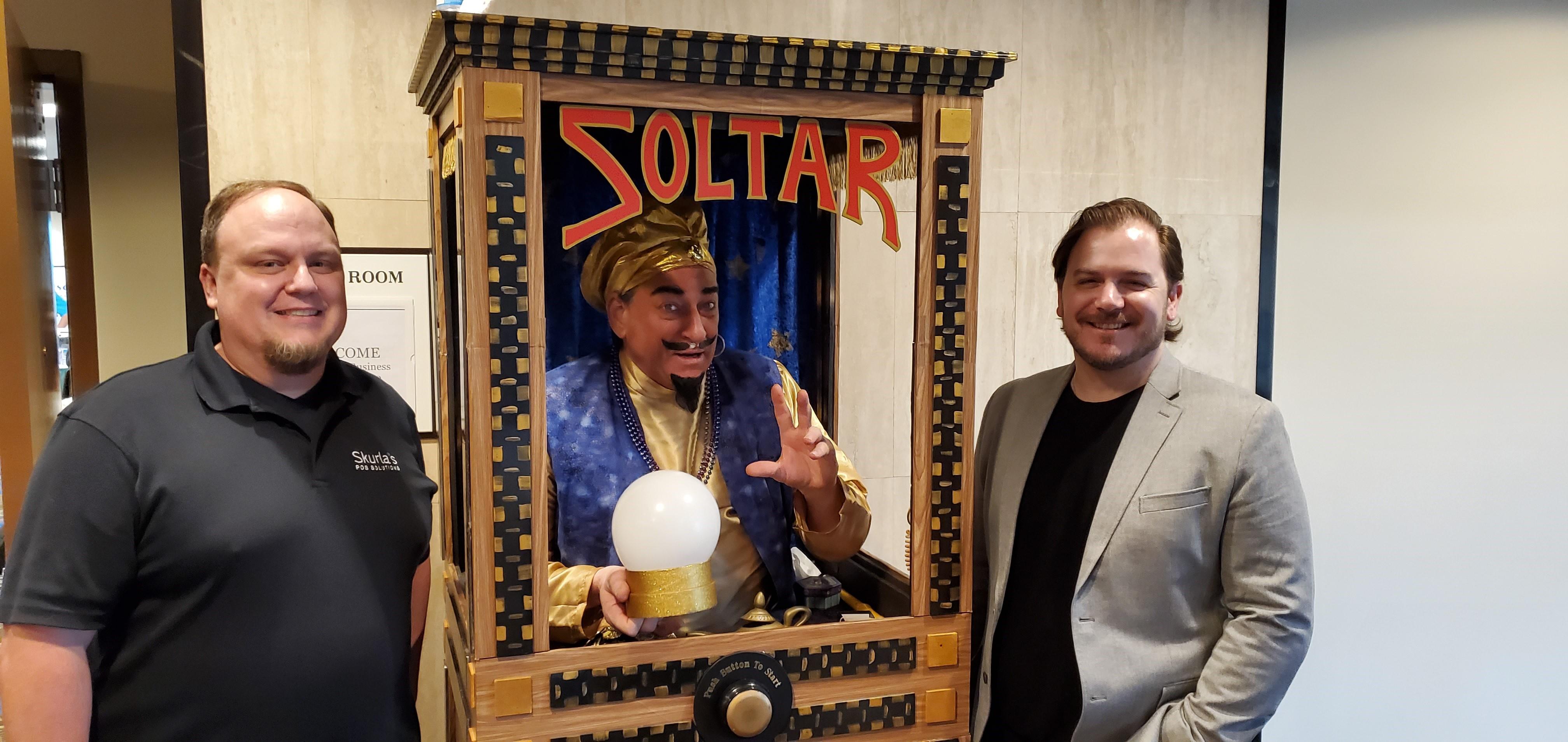 Josh and Thomas with Zoltar